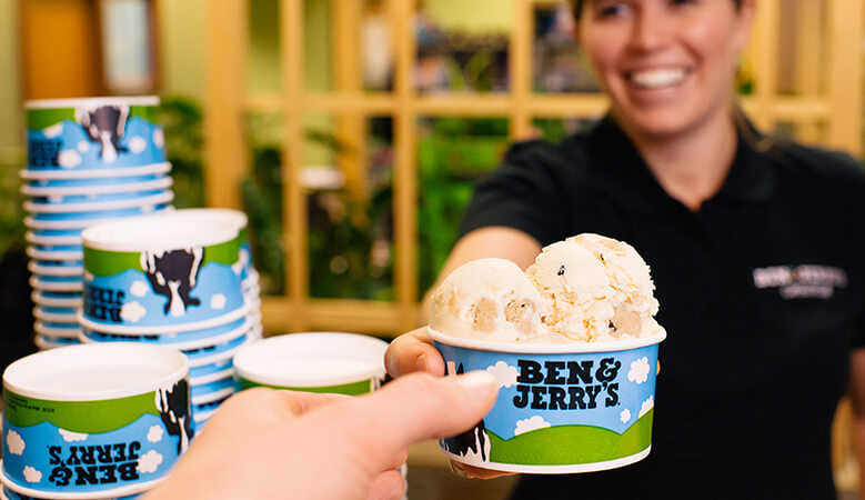 Ben & Jerry's catered ice cream party.