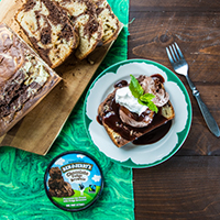 Recept: 2-Ingredient Ice Cream Bread